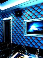 Geometric Diamond KTV Wallpaper 3d Fashion Cool Flash Wall Covering Bar Hotel Fancy Ballroom Box Theme Room Wallpaper