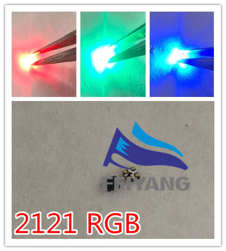 2000PCS SMD LED 2121 RGB Full Color Marquee BLUE RED GREEN  Free Shipping