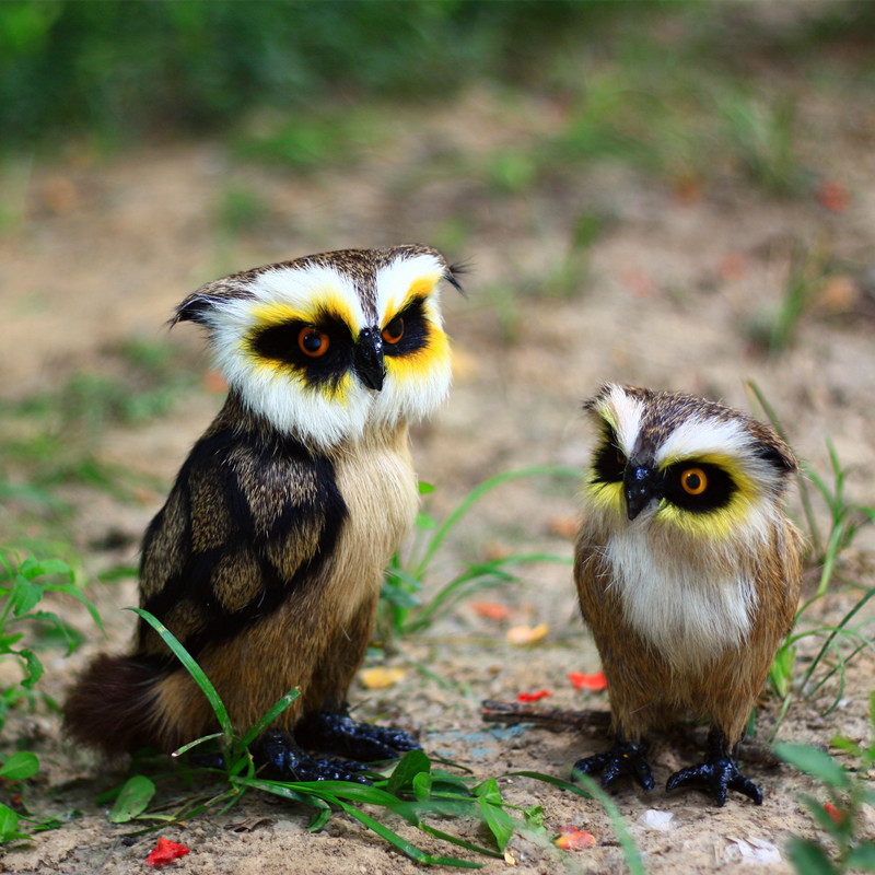 ZILIN Simulated owl handmade adorable owl toy home decoration 2 sizes for option in Figurines Miniatures from Home Garden