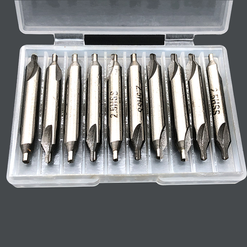 10pcs 2.5mm High Speed Steel Center Drill 60 Degrees Center Drill Countersinks High Strength Combined Drill
