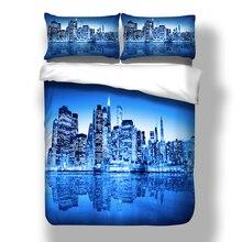 Nova cidade capa de edredão com fronha au queen bedline roupa de cama têxteis para o lar