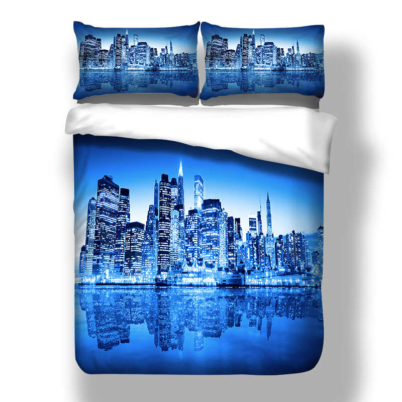 new city duvet cover with pillowcase AU Queen Bed bedline Bed linens home textiles-in Bedding Sets from Home & Garden