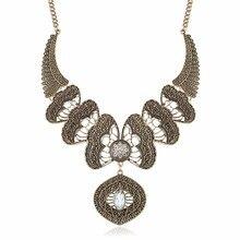 MIARA. L креативная Мода Выгравированный сплав ключицы цепь этическое ожерелье для женщин