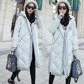Winter New fashion  Women padded Jacket Female Slim long down cotton wadded coat Women hoodies parkas plus size a99