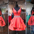 2016 Simple Cheap Red Short Formal Homecoming Dresses With Beads Knee Length Blue 8 Grade Graduation Dresses Designs