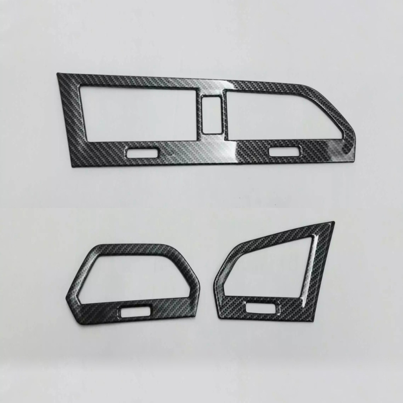 Car Cover Trim Up Air condition switch Outlet Vent Parking Warn hazard 3pcs For Volkswagen <font><b>Tiguan</b></font> L TiguanL MK2 2017 2018 <font><b>2019</b></font> image