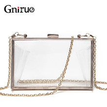 Acrylic Transparent Clutch Chain Box Women Shoulder Bags Hard Day Clutches Bags Wedding Party Evening Purse 5 Colors цена в Москве и Питере