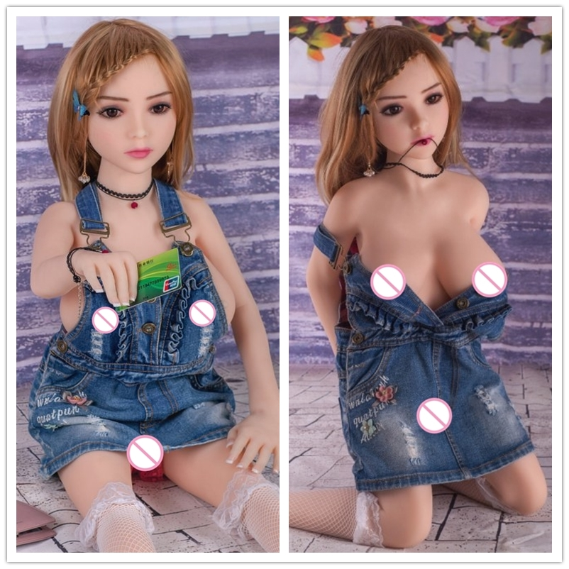 WMdoll 100cm Real Silicone Sex Doll Realistic Robot Anime Love Doll Lifelike Mini Vagina Big Breast Adult Sexdoll mini sex doll 3ft 3in 100cm my silicone love doll