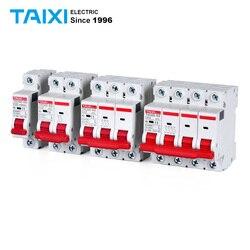 Миниатюрные автоматические выключатели с индикатором 6KA MCB C65N-63, 1P, 2 полюса, 3P, 4P, 500 A, регулируемые, постоянный ток в, 30 А, 60 А