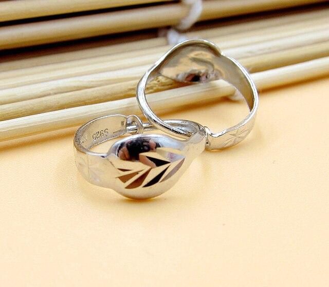 Италия дизайн Чистый Стерлингового Серебра 925 Пробы Серьги Обруча Мать Подарок