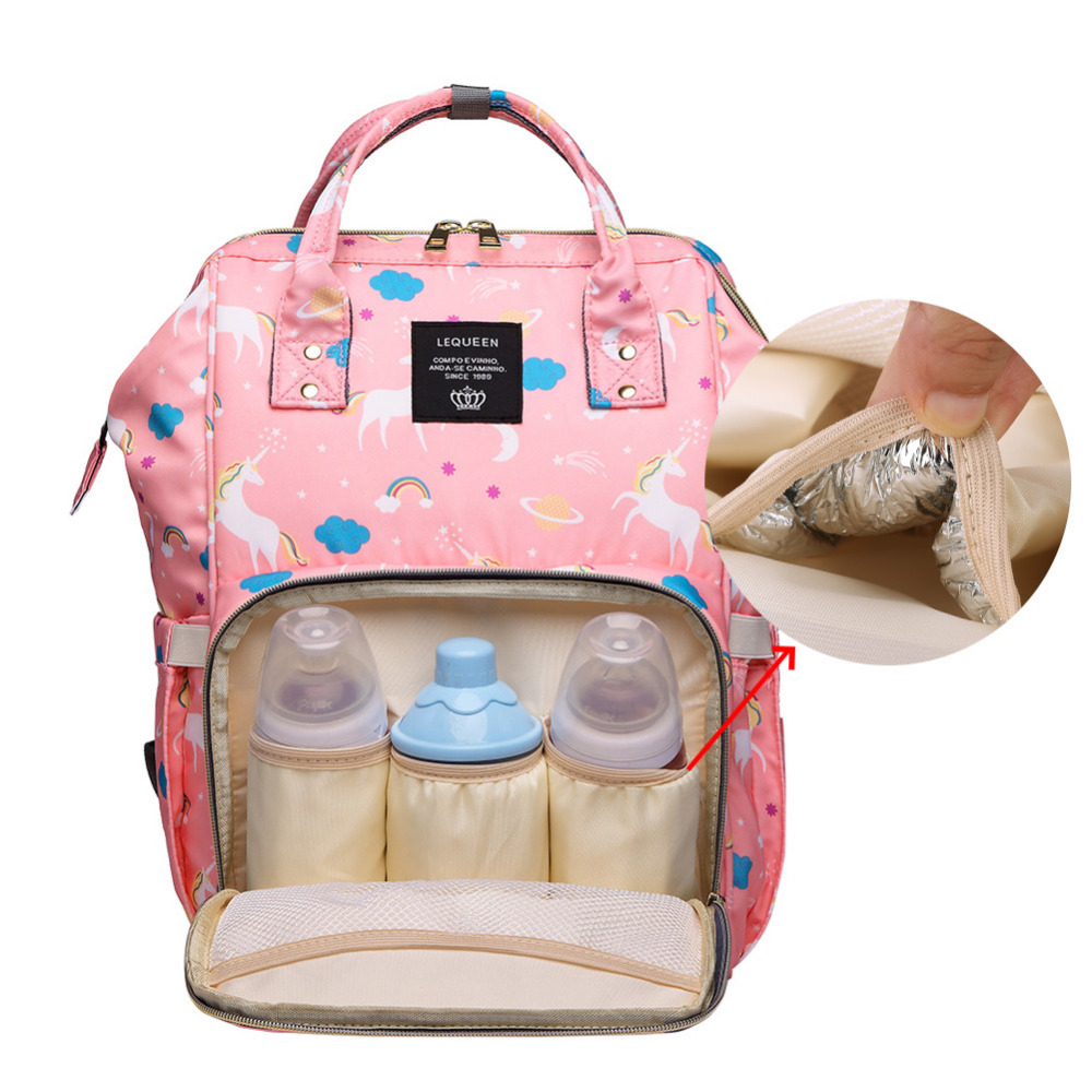 Lequeen Multi-function Mummy Diaper Bag Maternity Nappy Bags Stroller Large Capacity Travel Backpack Nursing Baby Care Wetbag lequeen multi function diaper bags zip mummy nursing bag large capacity baby care travel backpack designer nursing bag