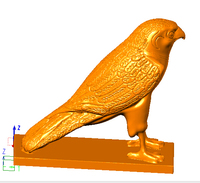 eagle 3D model relief for cnc router carving engraving in STL format file