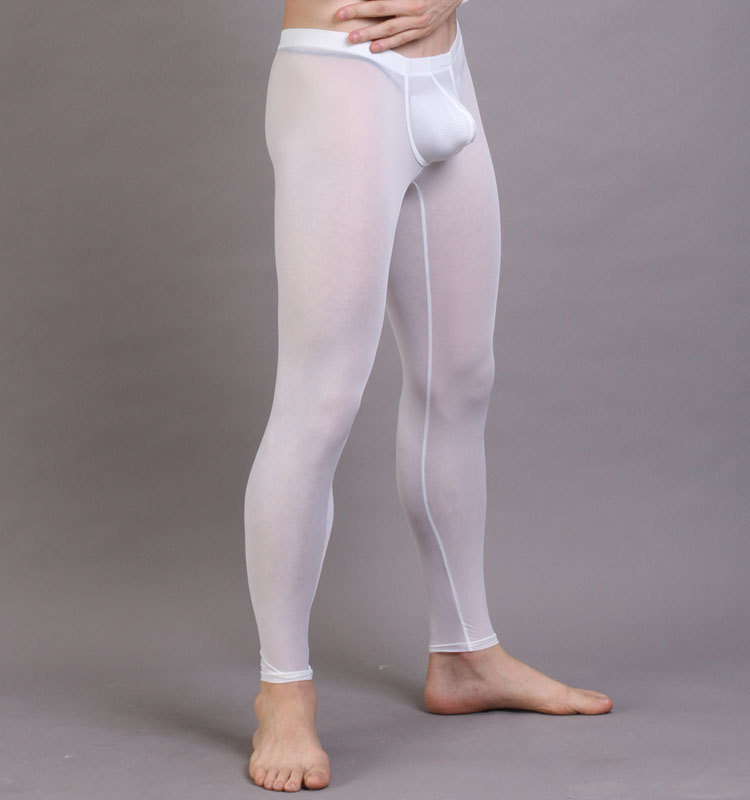 N2N Ice Silky Nylon Menu0026#39;s Pouch Underwear Leggings Long John Pants Tights (Pants ONLY)-in Menu0026#39;s ...