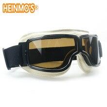 Capacete de Motocross Óculos de Proteção Piloto Jet Moto Scooter Aviador  Retro Fumado Óculos de Proteção 131a693e71