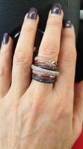 Image 2 - GODKI znane marki luksusowe krzyż geometria Cubic Zironium zaręczyny dubaj Unisex pierścionki biżuteria dla nowożeńców palec serdeczny