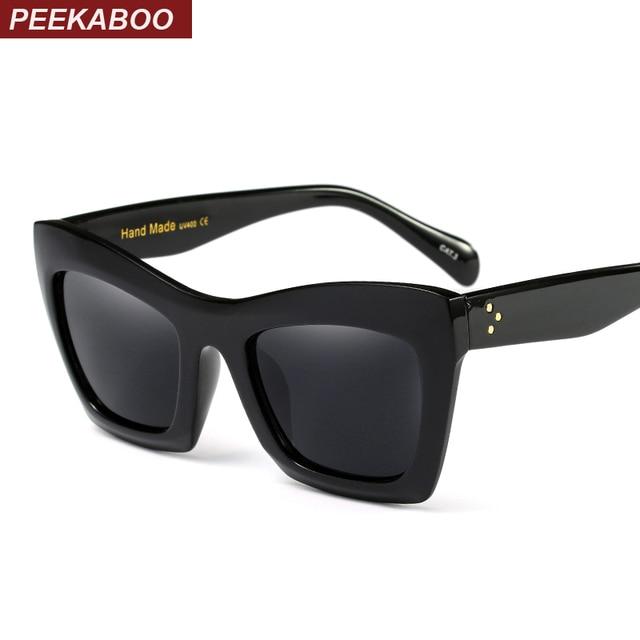 71043923a3 Peekaboo black retro cat eye sunglasses women square hot selling designer  sun glasses female transparent frame uv400