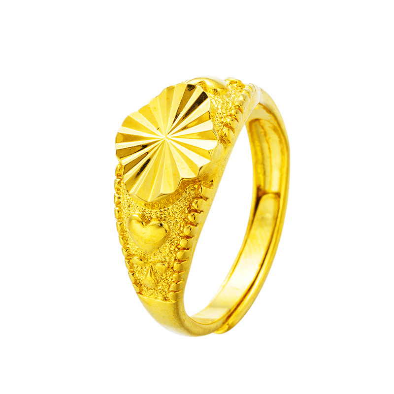 CHENFAN Womens Adjustable Rings For Women Fashion Rings 2019 Women Open Dainty Plating 24k Gold Ring  Jewelry Wedding Band