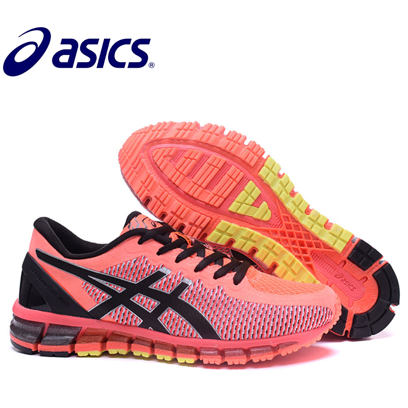 2018 Original Asics Gel-Quantum 360 Woman's Shoes Breathable Stable Running Non-slip Breathabler Tennis Shoes Hongniu asics tiger gel lyte iii lc