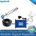 Diy Kit LCD 4G LTE/GSM 1700 mhz Impulsionador 4G Telefone Celular AWS 1700 Sinal De Celular Repetidor Amplificador Celular Signal Booster Para EUA
