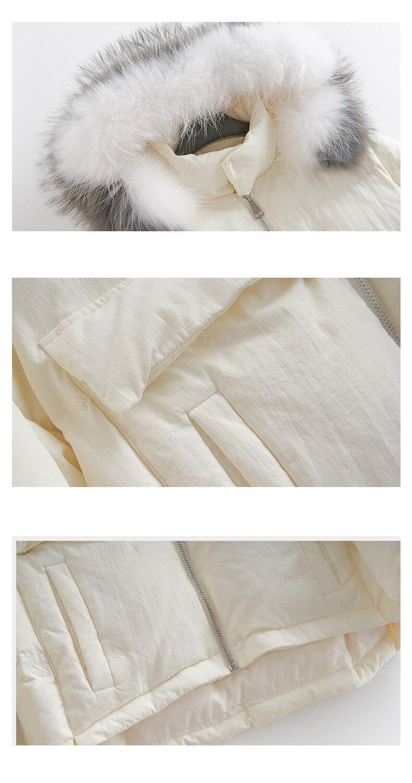 D'hiver Ayunsue Capuche 2018 Col De À Canard Cream Manteau Fourrure Parka White Le Manteaux Vers My1542 Veste Laveur Mujer Abrigo Femmes Coréenne Raton Bas Femme Vêtements 8v6rwTq8
