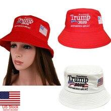 Лидер продаж года: красная и белая шляпа-ведро с принтом «Keep America Great Again» и изображением Дональда Трампа