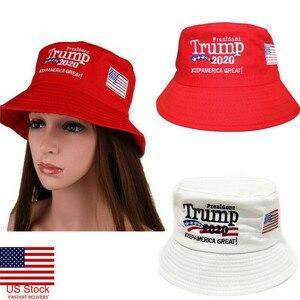 Gorący prezydent donald trump 2020 zachowaj amerykę ponownie wielki kapelusz czerwony biały kapelusz typu bucket drukowanie czapka rybaka