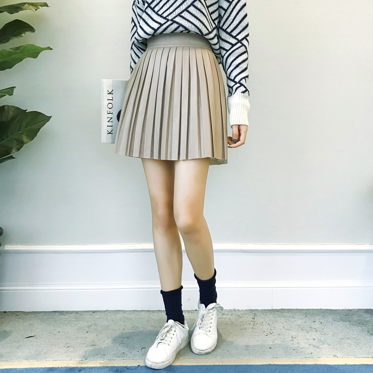 Плиссированная юбка короткая азиатки