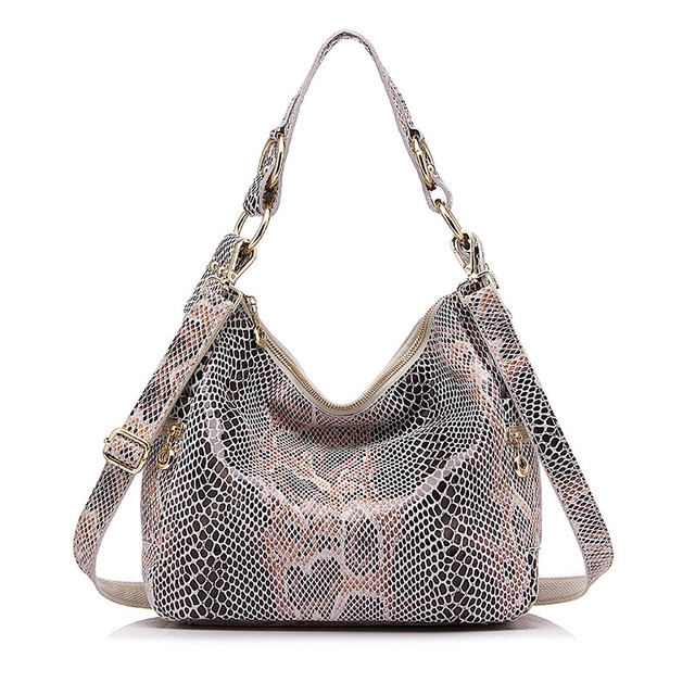 fd3d71d6cb2e Genuine leather tote bag female classic serpentine prints shoulder ...