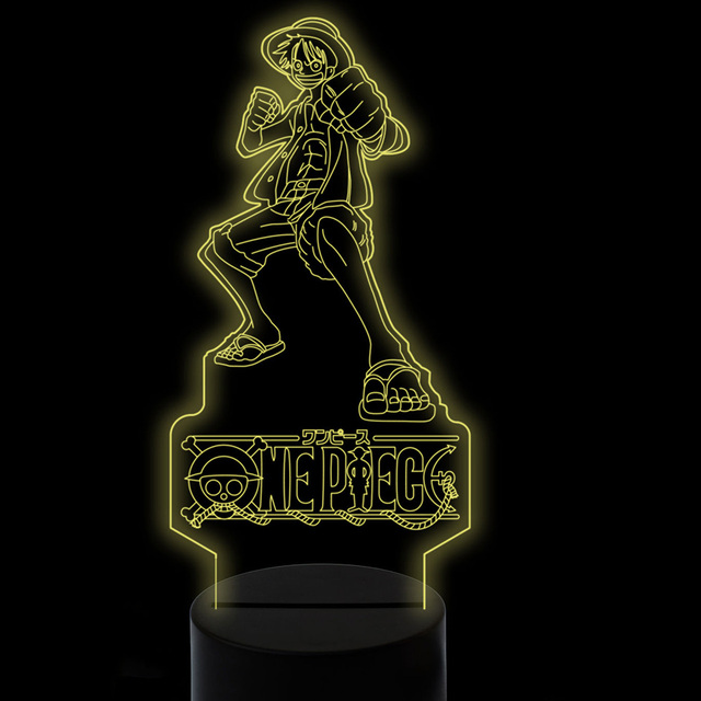 One Piece Monkey D. Luffy Lámpara 3D LED