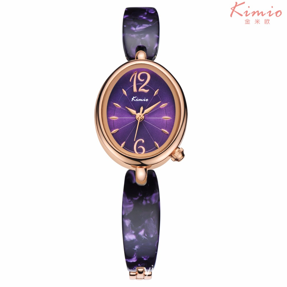 2016 Kimio luxury brand women wrist watches rose gold Oval dial fashion casual watch women jewellery quartz-watch reloj mujer kimio fashion quartz watches women top luxury brand japan movement full stainless steel rose gold watch for women reloj mujer