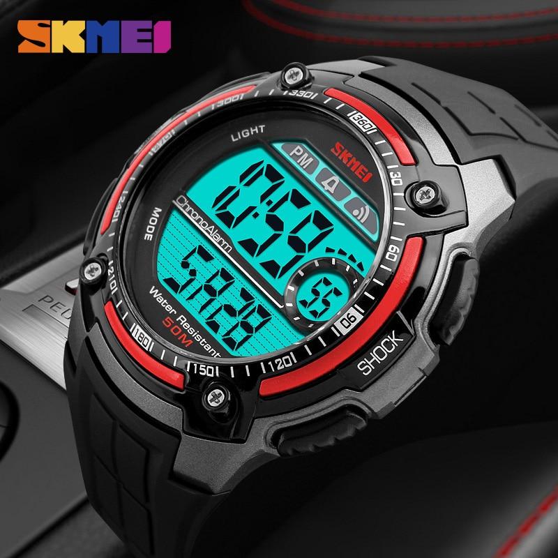 SKMEI Outdoor Sports Watches Men Chronograph Waterproof Shock Digital Watch Wrist Watch Men's Clock Male Relogio Masculino 1203