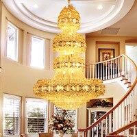 Personalizado penthouse chão sala de estar lustre  villa sala estar lustre cristal lâmpada luxo hotel lobby