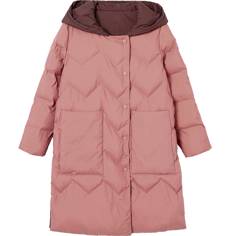 De Survêtement Femmes Grande Vs272 Taille Mode 4xl Manteau Black Casual Chaud Moyen Veste Élégant Long Nouvelle Femme Capuchon À Parkas pink Hiver x7wqBYdZY