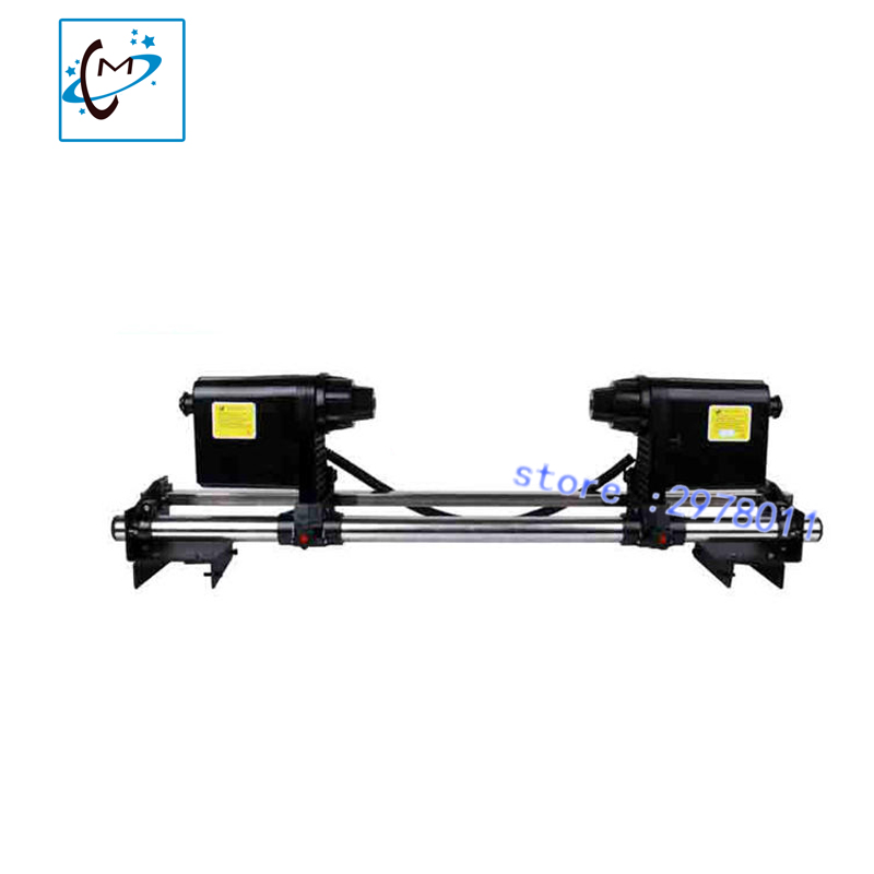 Strong power paper take up system with double motors for wit color skycolor lecai  mutoh mimaki piezo printer Paper Take up Reel 64 automatic media take up reel system for mutoh mimaki roland etc printer