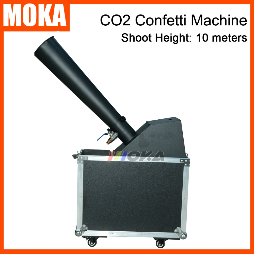 1pcs/lot stage co2 confetti machine stage effect confetti cannon hand control co2 blaster jet 10m Flight case packing