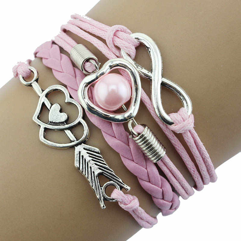 accessories Heart-shaped bracelet handmade jewelry rope bracelet gift female Fashion bracelet multicolor simple female