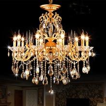 Elegantes lámparas de araña de cristal Contemporáneo y moderno arañas de cristal de cocina isla luz lámparas de bronce Antiguo