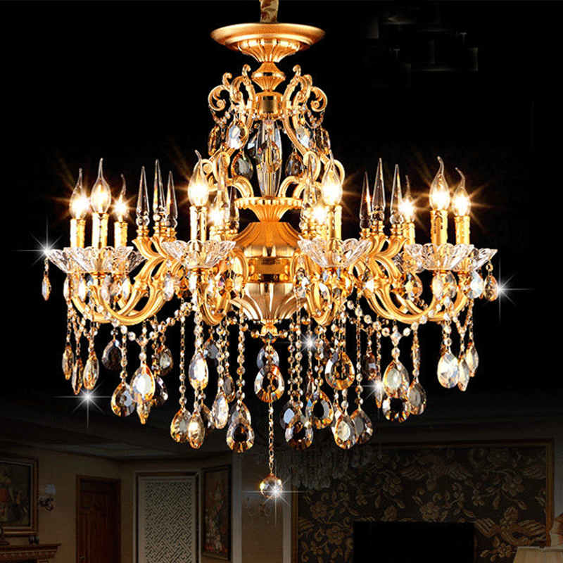 Elegant crystal chandeliers Contemporary and modern crystal chandeliers  kitchen island light Antique bronze chandeliers lamps