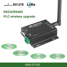 433MHz LoRa SX1278 RS485 RS232 Interface rf DTU Transceiver 3km FEC Wireless uhf Module 433M rf Transmitter and Receiver цена и фото