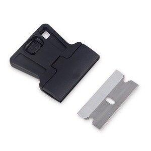 Image 2 - EHDIS 3pcs אוטומטי Razor מגרד עם פלדת סכין להב ויניל סרט לעטוף מכונית מגב קאטר חלון גוון דבק מדבקה מסיר כלים