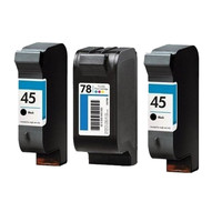 3PK Replacement Ink Cartridge Fit For HP45 78 For HP Deskjet 9300 810c 812c 840c 845c