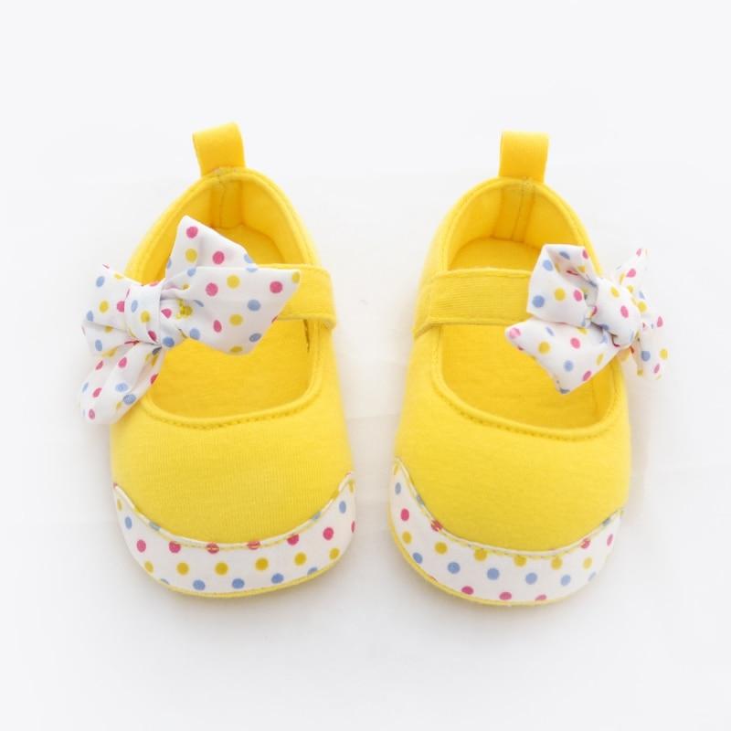 Newest Princess Baby Kids Shoes Toddler Bowknot Shoes Infant Soft Bottom Cotton Prewalkers 0-24M
