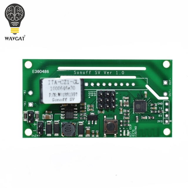 Sonoff SV ITEAD Safe Voltage DC 5-24V WiFi Wireless Switch Module Support Secondary Development Timing IOS/Android APP Control 1