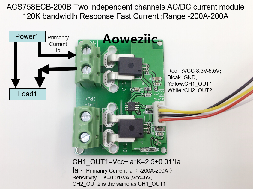 Aoweziic ACS758ECB-200B ACS758ECB ACS758 Two independent channels AC/ DC current detection module Rang:-200A-200A 6es7284 3bd23 0xb0 em 284 3bd23 0xb0 cpu284 3r ac dc rly compatible simatic s7 200 plc module fast shipping