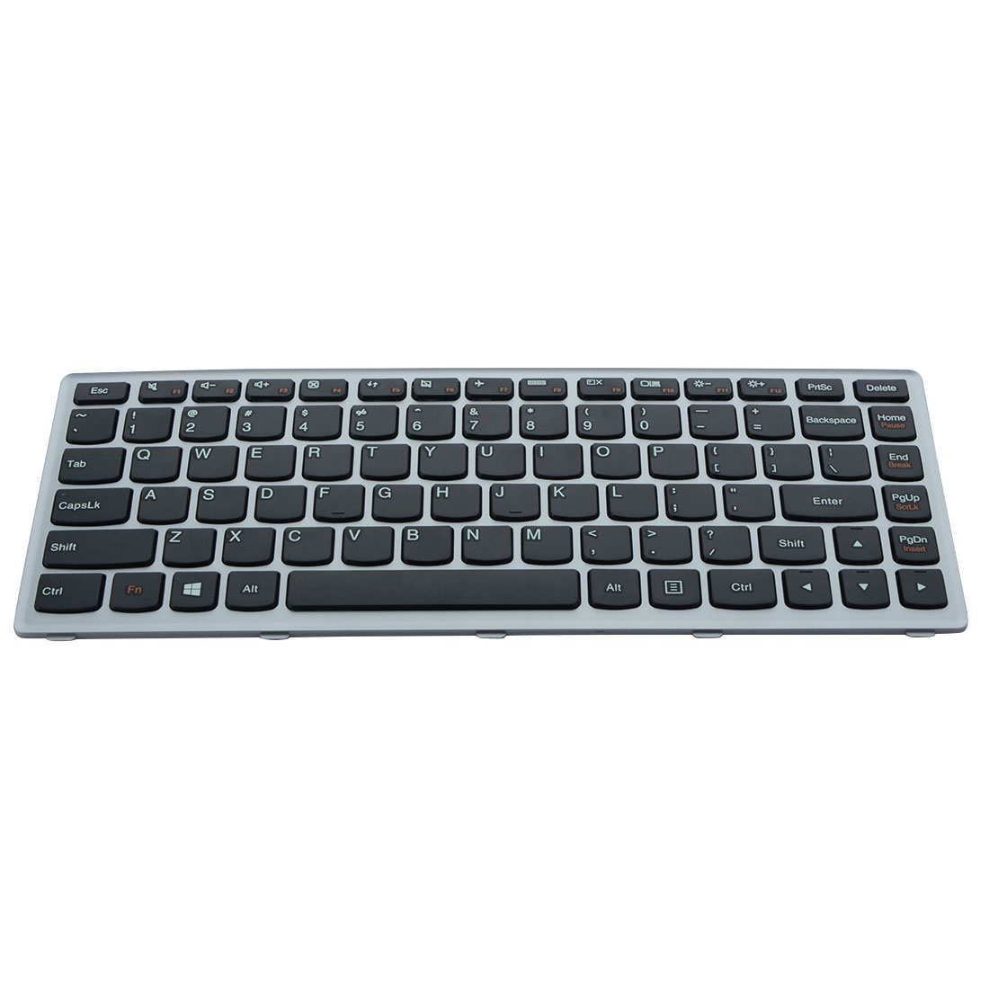 1 Pcs English Standard Replacement Keyboard Silver Laptop Keyboard For IBM Lenovo U310 With Package