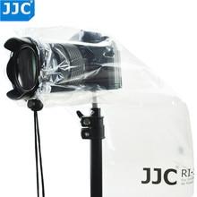 JJC chubasquero para cámara DSLR pequeño, 2 unidades, con lente, cubierta para lluvia, cámaras sin Espejo, abrigo transparente, lentes Prime, Protector impermeable