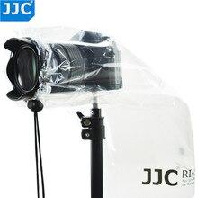 Jjc capa de chuva para câmera pequena, 2 peças, capa de chuva para câmera dslr, com capa de chuva, sem espelho, transparente, à prova d água protetor