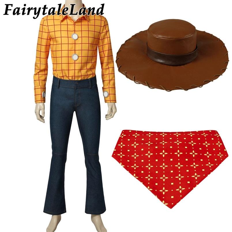 Toy Story Woody Cosplay Costume Halloween Cosplay Costume Cowboy Mascot Costume suit Woody Costume Custom Made