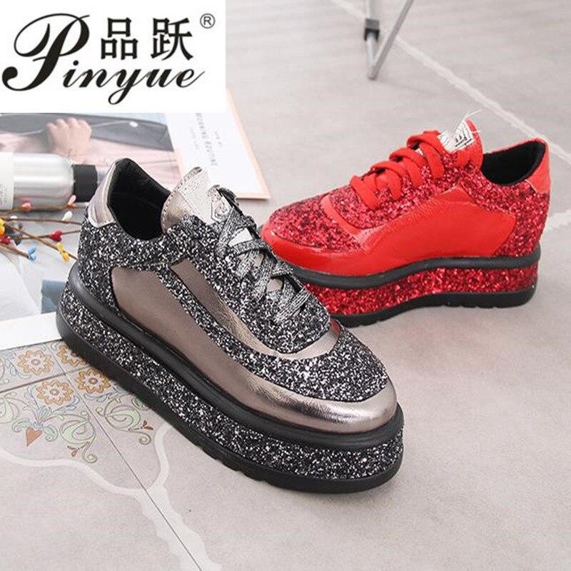 2019 mode chaussures femme diamant appartements chaussures décontractées femmes Slip Sneakers argent mocassins cristal cuir fille formateurs - 2