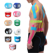 sports kinesiology Elbow pads Muscle Sticker 15 Color 5cm x 5m Tape Cotton Elastic Adhesive Bandage Care F